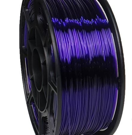 Pet-g фиолетовый прозрачный цвет 1.75мм (НИТ) - 3DPlast