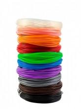Набор PLA пластика для 3Д ручки «НИТ» из 10 цветов - 3DPlast