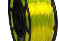 Pet-g жёлто-прозрачный флуоресцентный цвет 1.75мм (НИТ) - 3DPlast